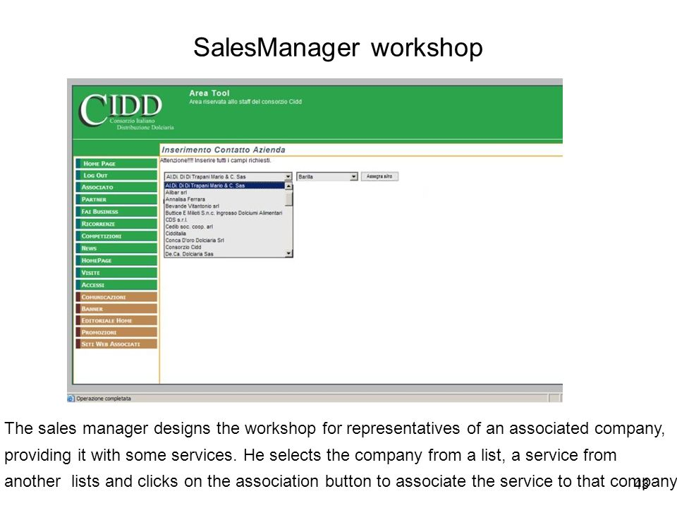 SalesManager workshop