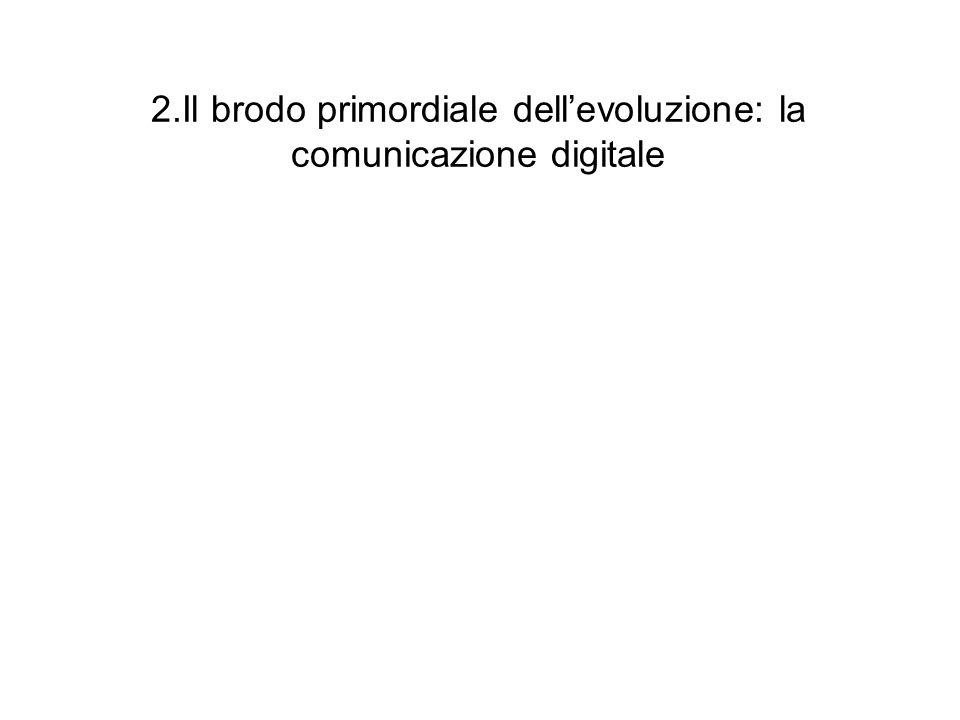 2.Il brodo primordiale dell'evoluzione: la comunicazione digitale