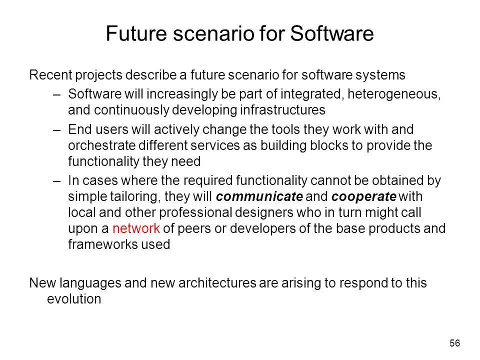 Future scenario for Software