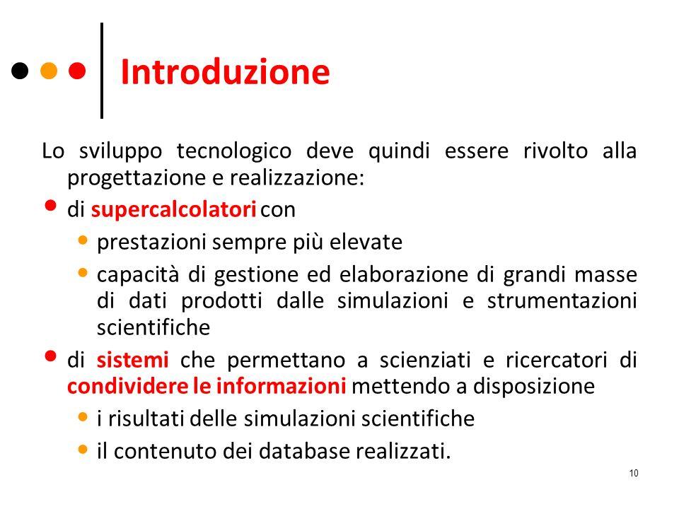 Introduzione Lo sviluppo tecnologico deve quindi essere rivolto alla progettazione e realizzazione:
