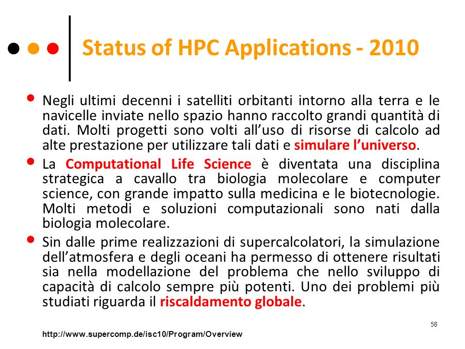 Status of HPC Applications - 2010