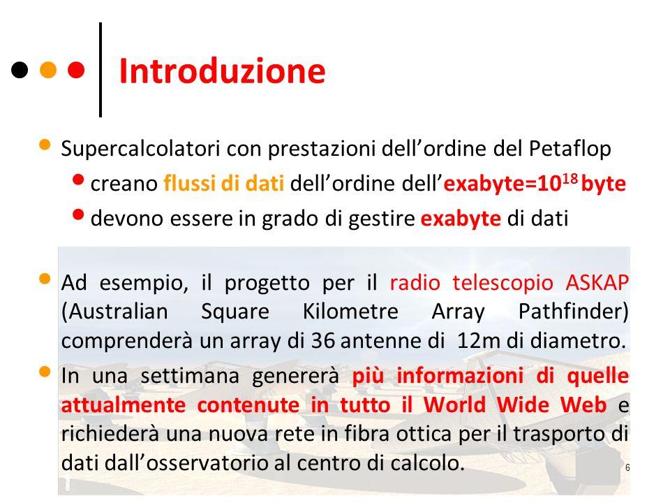 Introduzione Supercalcolatori con prestazioni dell'ordine del Petaflop