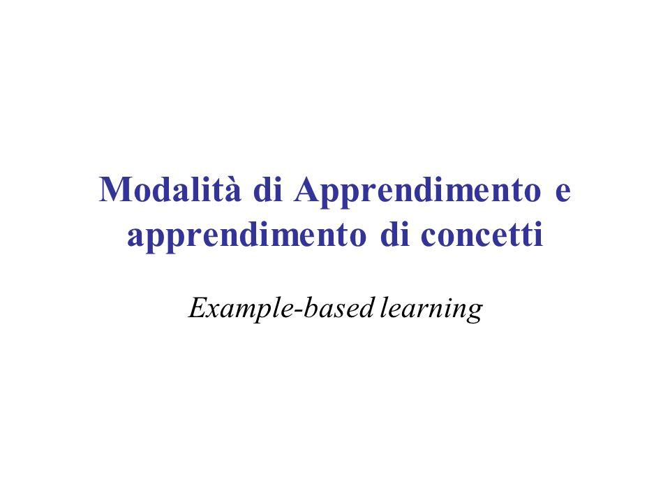 Modalità di Apprendimento e apprendimento di concetti
