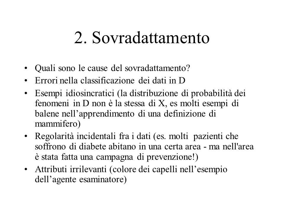 2. Sovradattamento Quali sono le cause del sovradattamento
