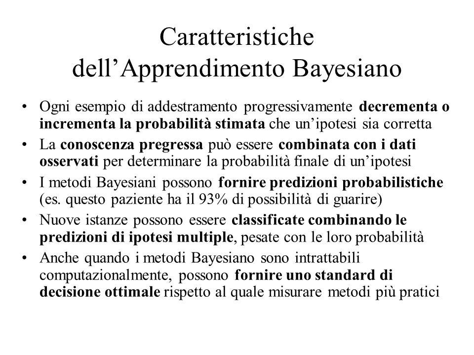 Caratteristiche dell'Apprendimento Bayesiano