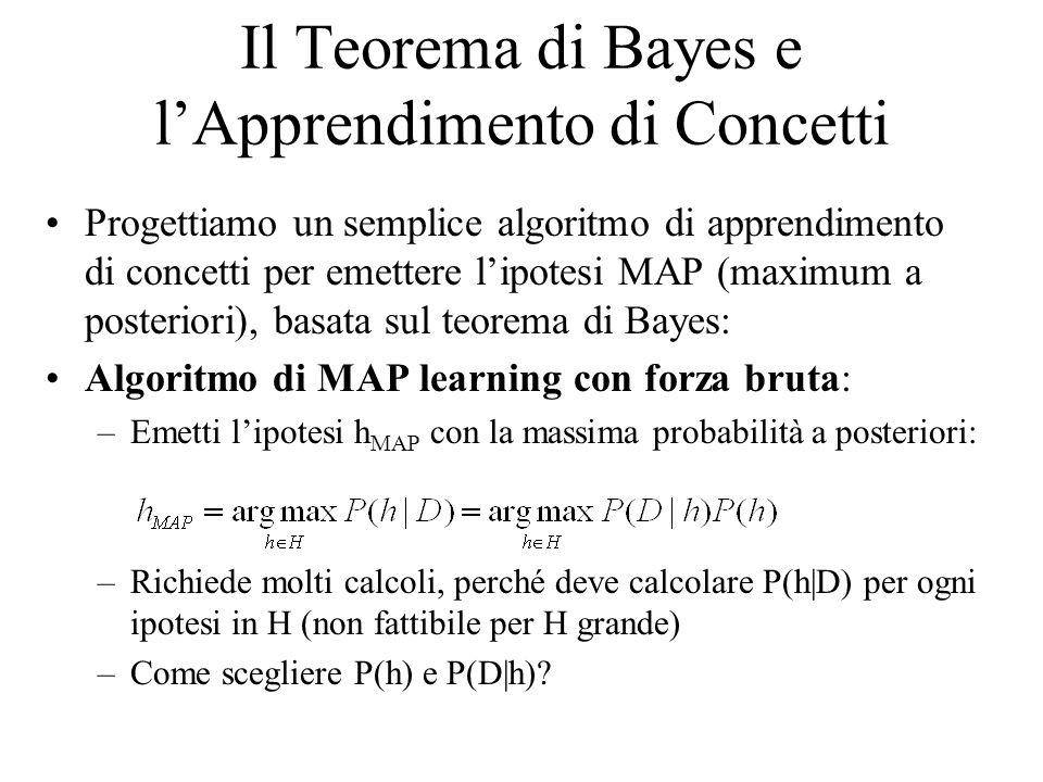Il Teorema di Bayes e l'Apprendimento di Concetti