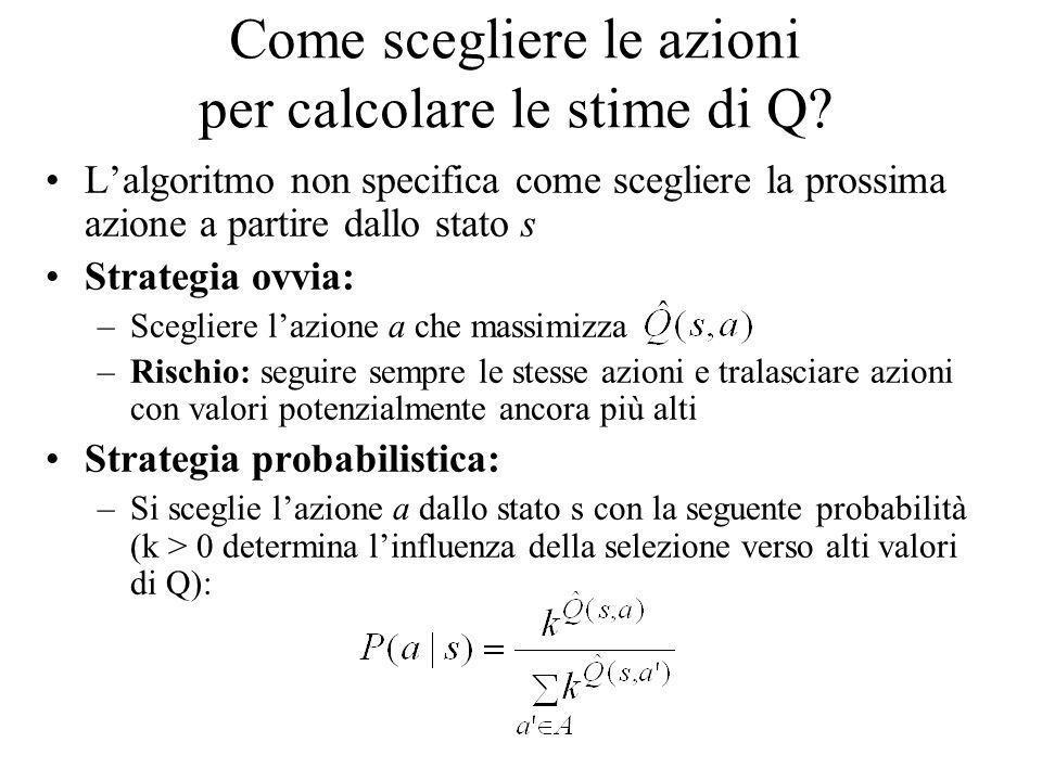Come scegliere le azioni per calcolare le stime di Q