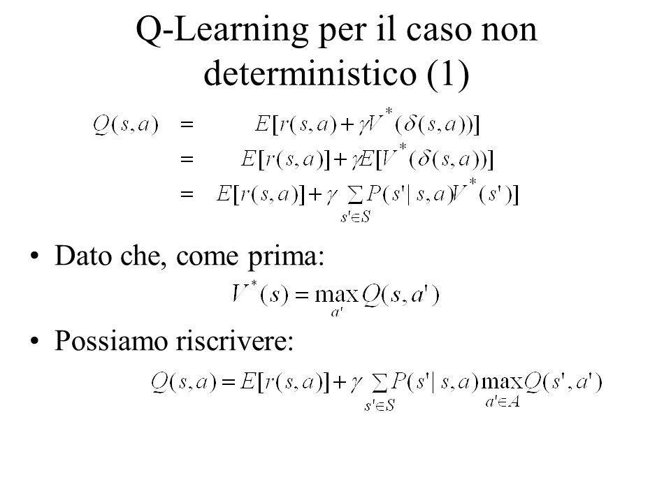 Q-Learning per il caso non deterministico (1)
