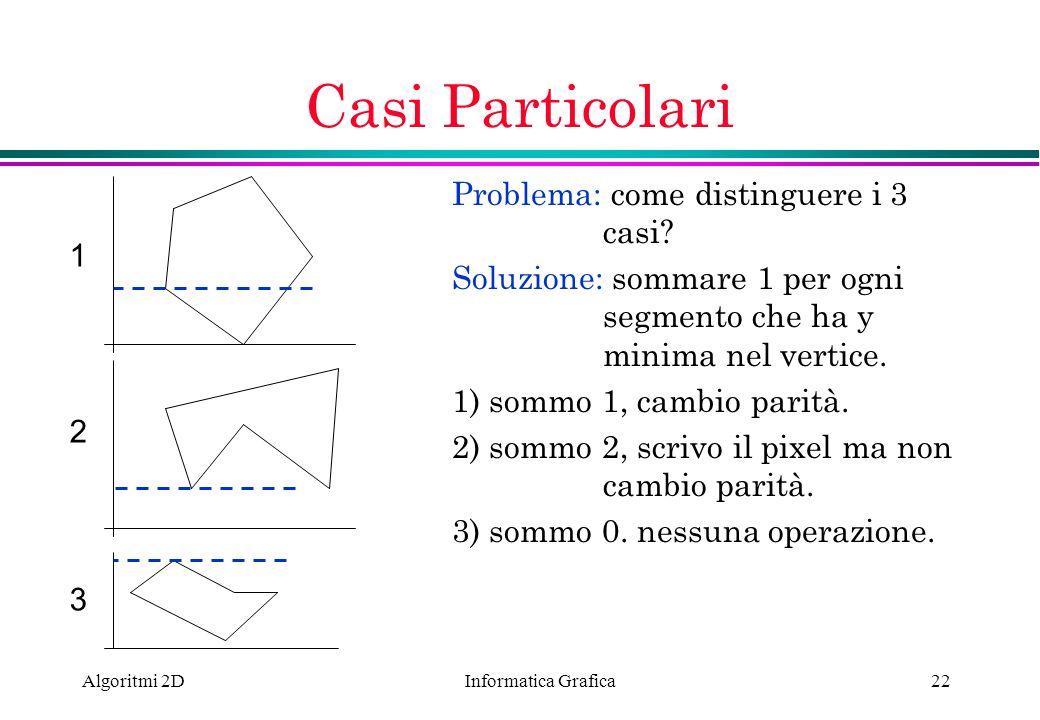 Casi Particolari Problema: come distinguere i 3 casi