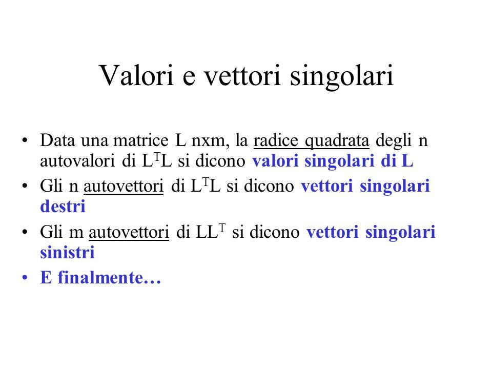 Valori e vettori singolari