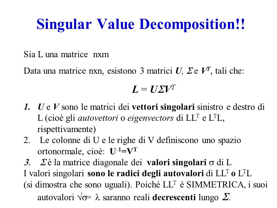 Singular Value Decomposition!!