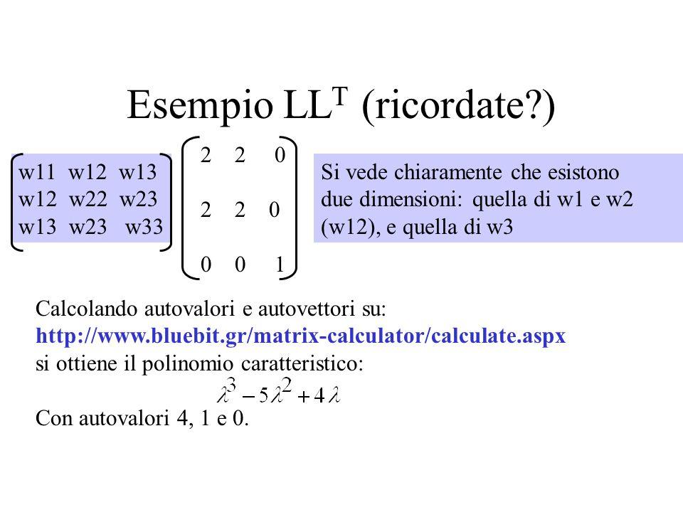 Esempio LLT (ricordate )