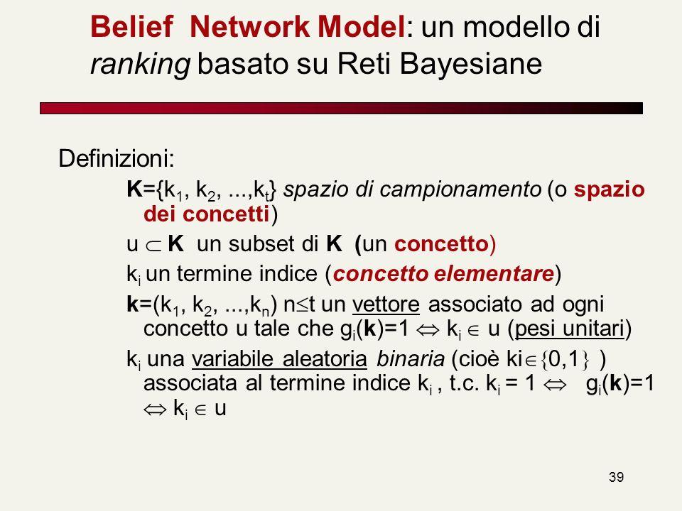 Belief Network Model: un modello di ranking basato su Reti Bayesiane