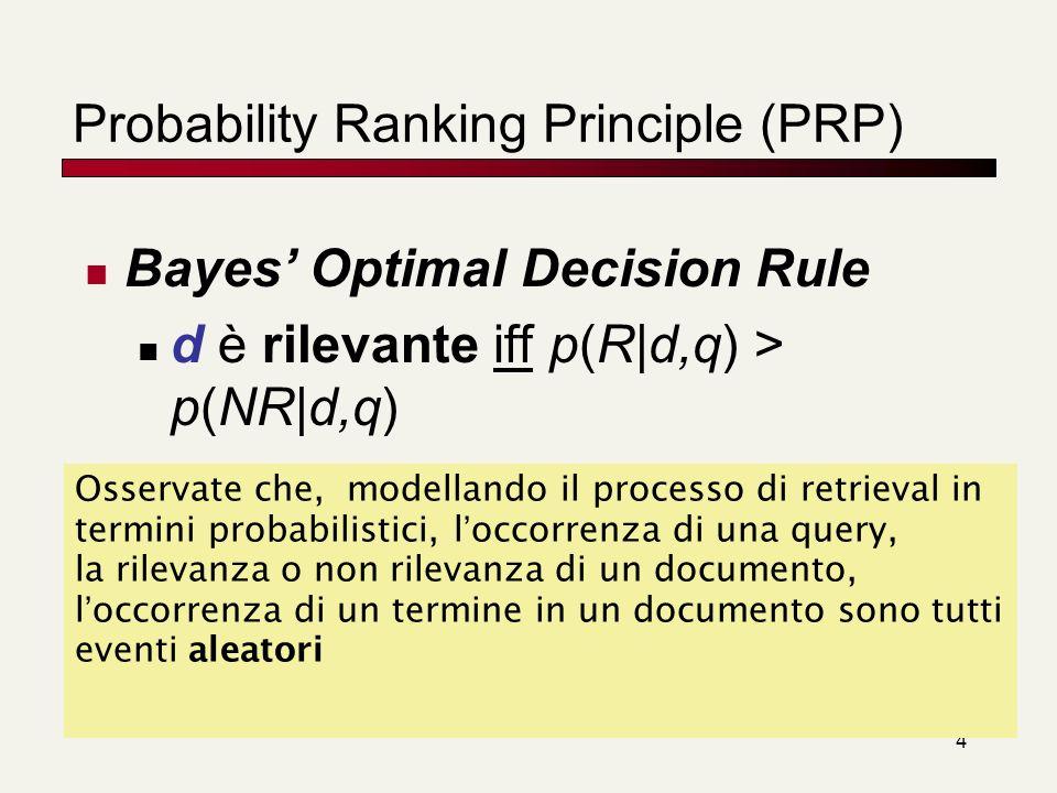 Probability Ranking Principle (PRP)