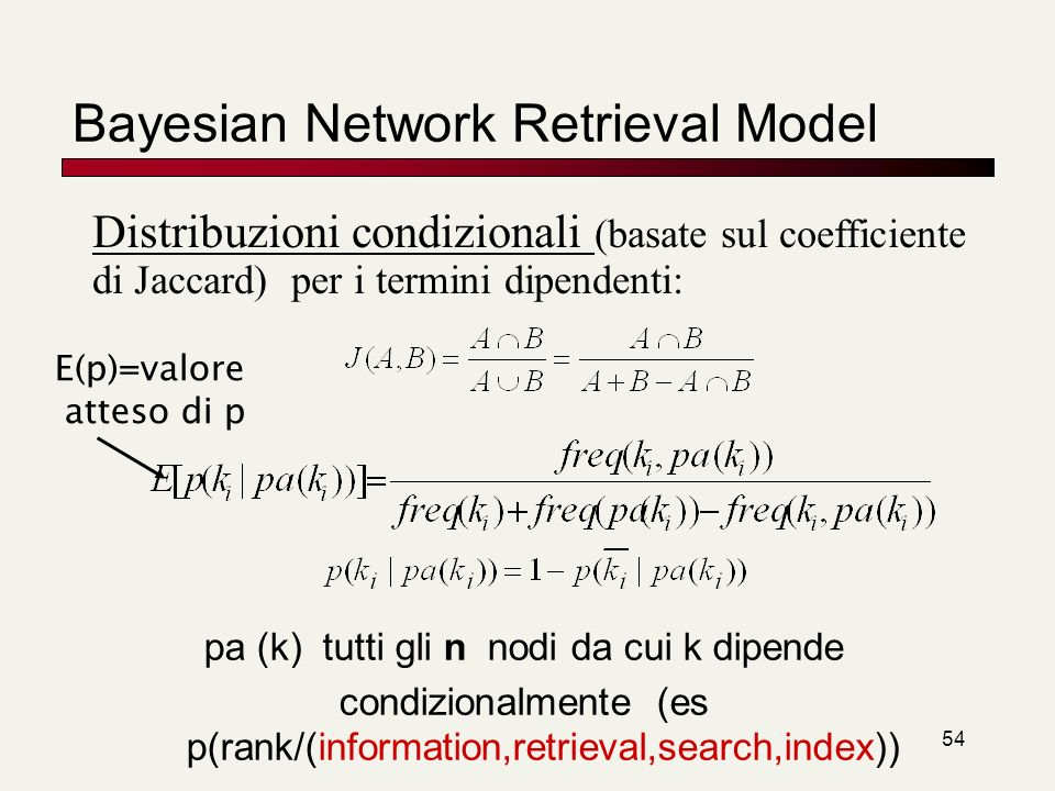 Bayesian Network Retrieval Model
