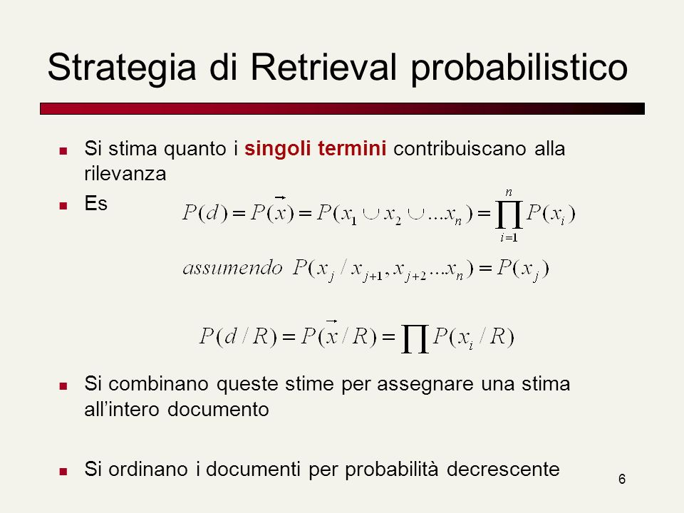 Strategia di Retrieval probabilistico