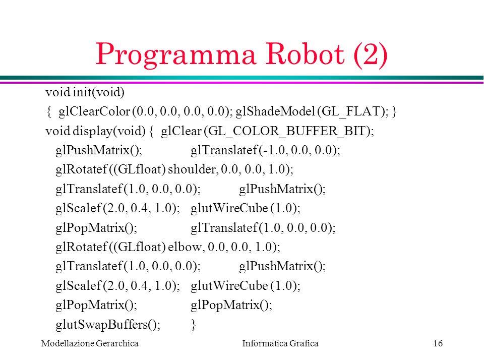 Programma Robot (2) void init(void)