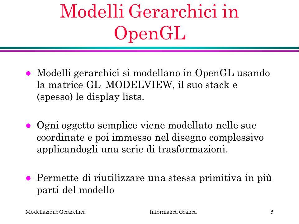 Modelli Gerarchici in OpenGL
