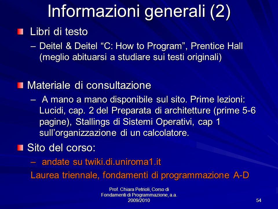 Informazioni generali (2)