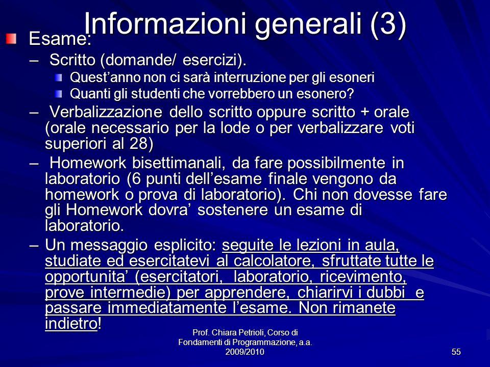 Informazioni generali (3)