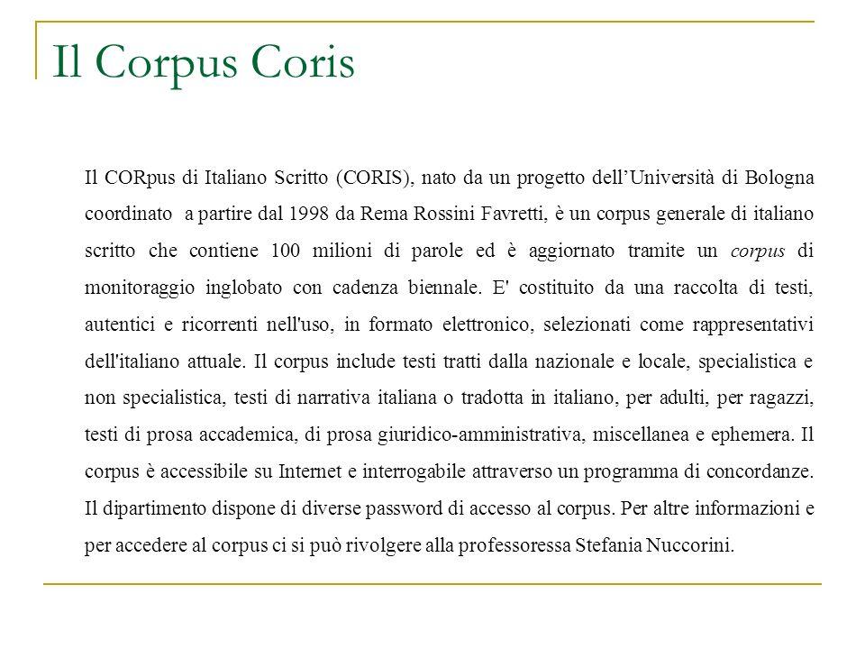 Il Corpus Coris