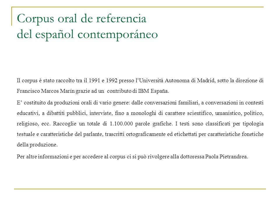 Corpus oral de referencia del español contemporáneo