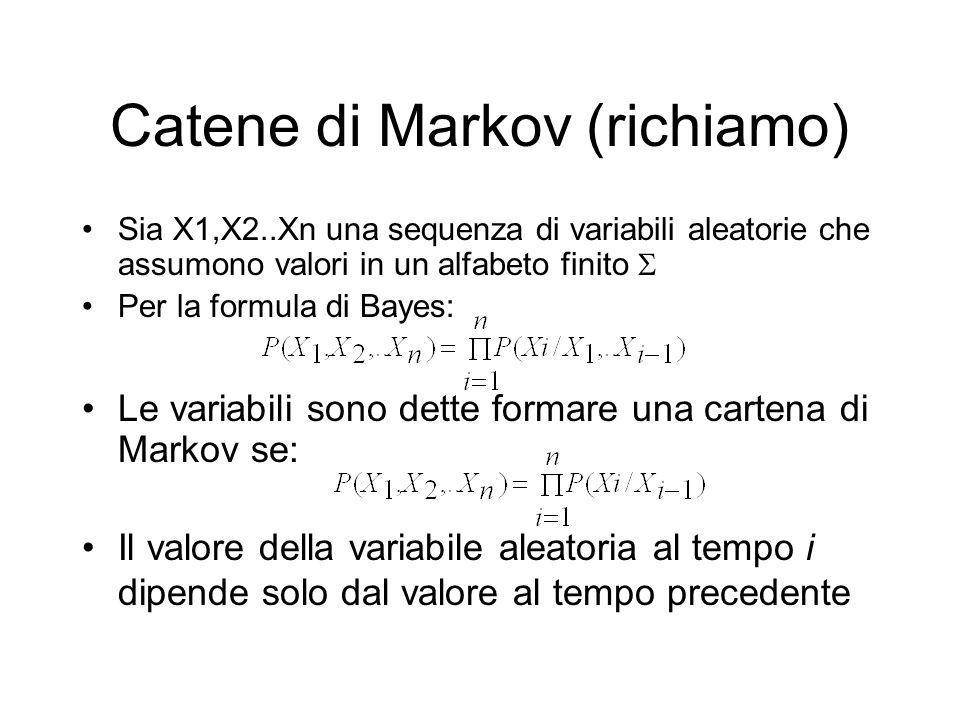 Catene di Markov (richiamo)