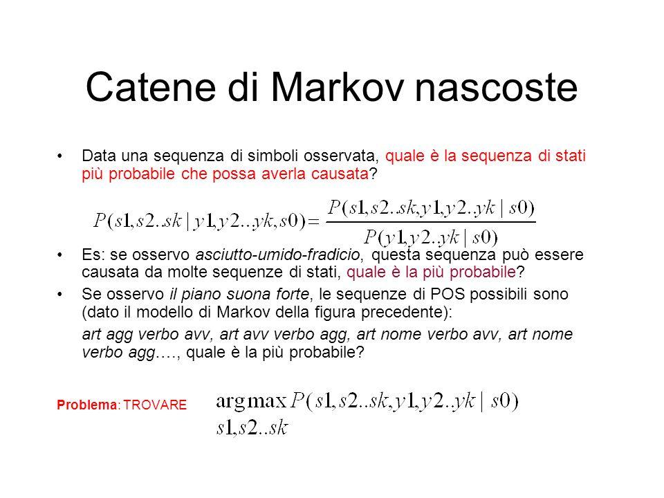 Catene di Markov nascoste
