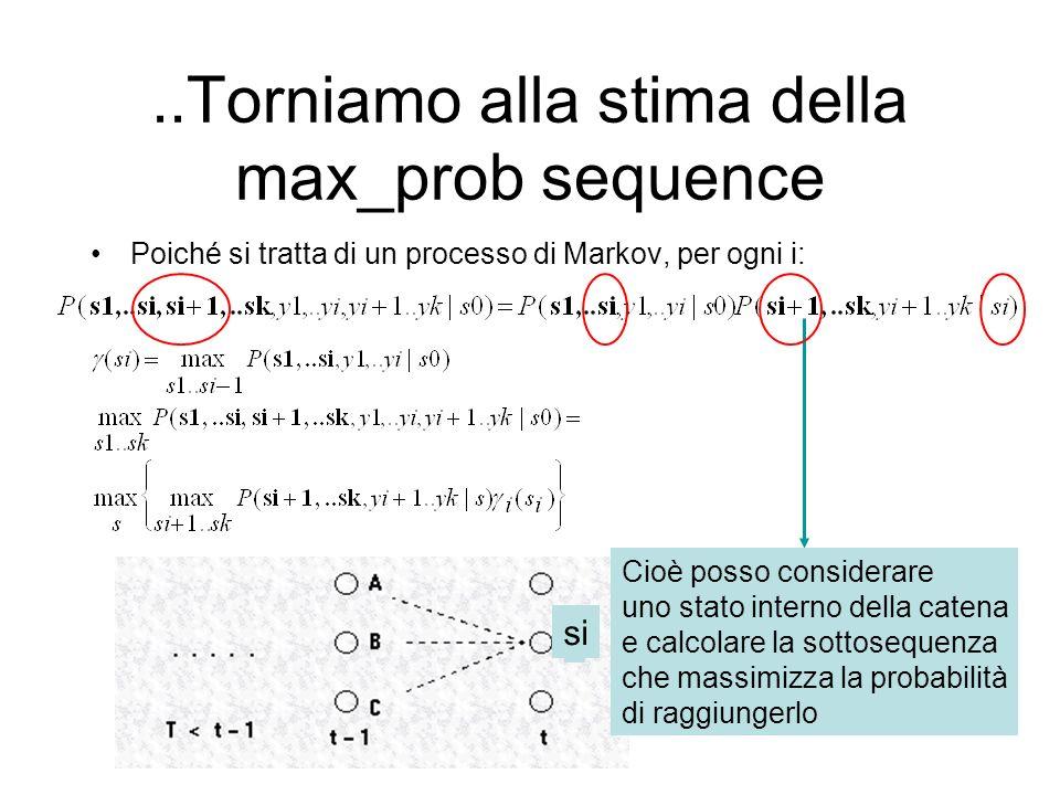 ..Torniamo alla stima della max_prob sequence