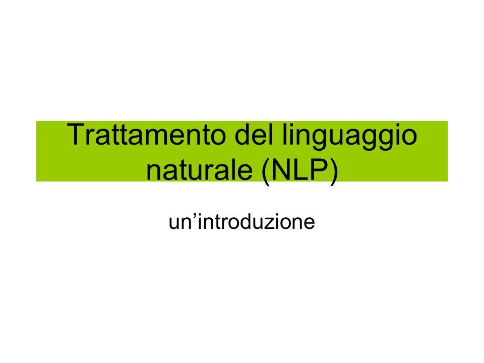 Trattamento del linguaggio naturale (NLP)
