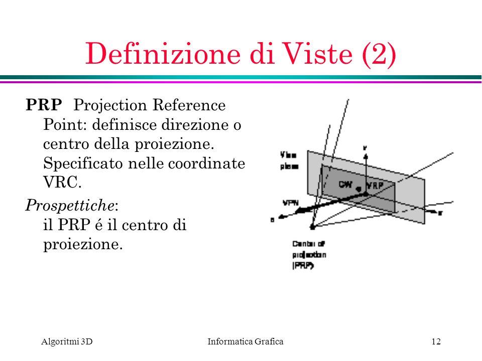Definizione di Viste (2)