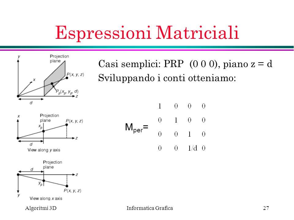 Espressioni Matriciali