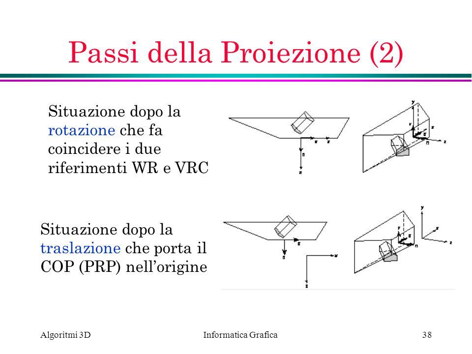 Passi della Proiezione (2)