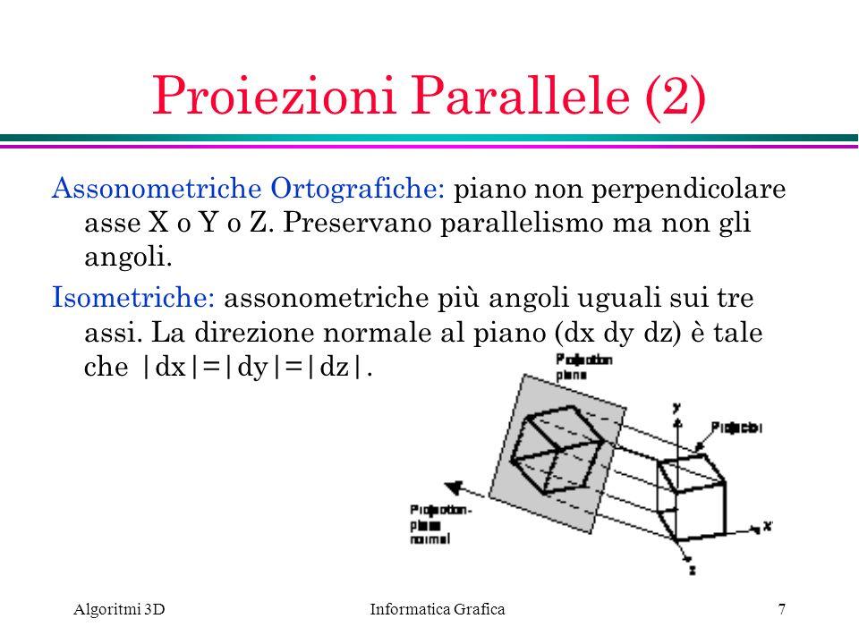 Proiezioni Parallele (2)