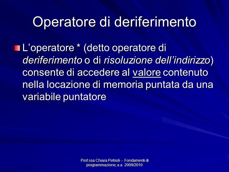 Operatore di deriferimento