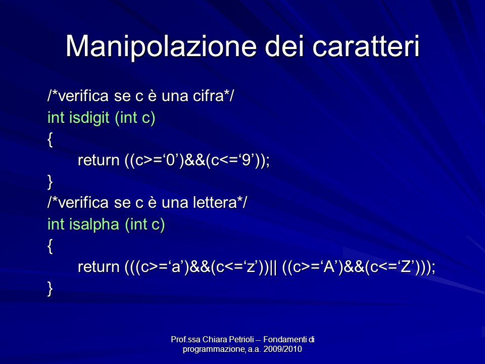 Manipolazione dei caratteri