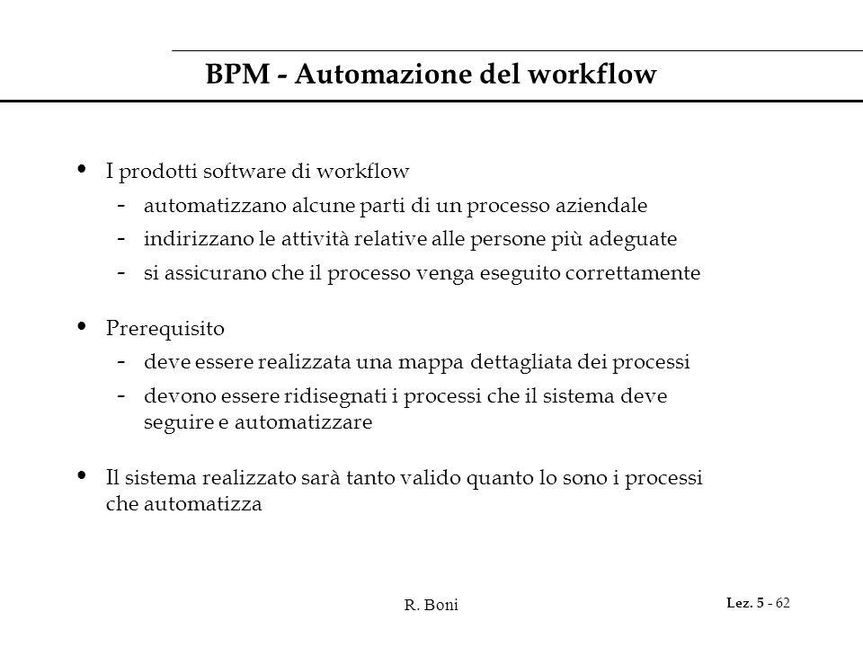 BPM - Automazione del workflow