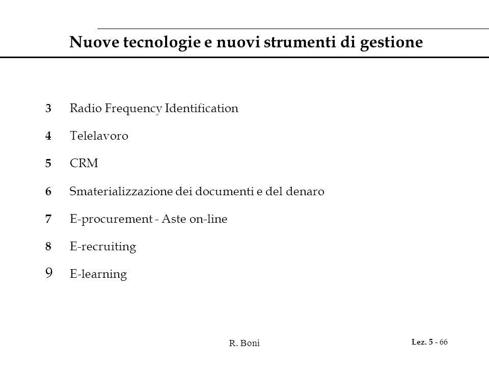 Nuove tecnologie e nuovi strumenti di gestione