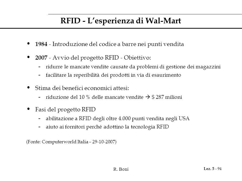 RFID - L'esperienza di Wal-Mart