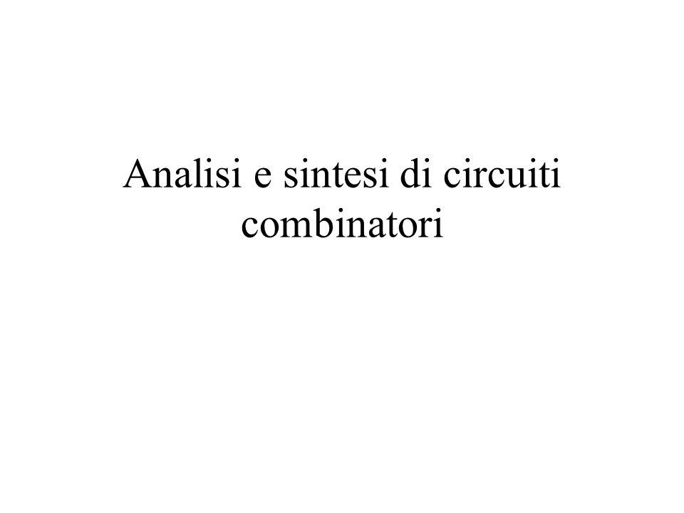 Analisi e sintesi di circuiti combinatori
