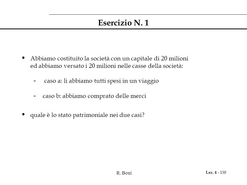 Esercizio N. 1