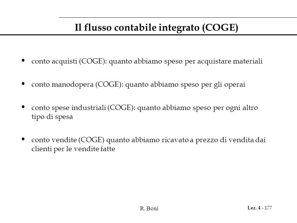 Il flusso contabile integrato (COGE)