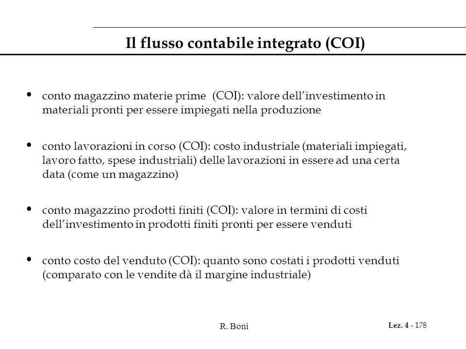 Il flusso contabile integrato (COI)