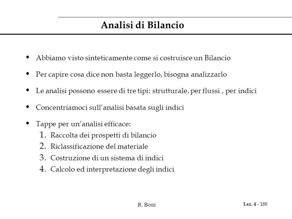 Analisi di Bilancio Abbiamo visto sinteticamente come si costruisce un Bilancio. Per capire cosa dice non basta leggerlo, bisogna analizzarlo.