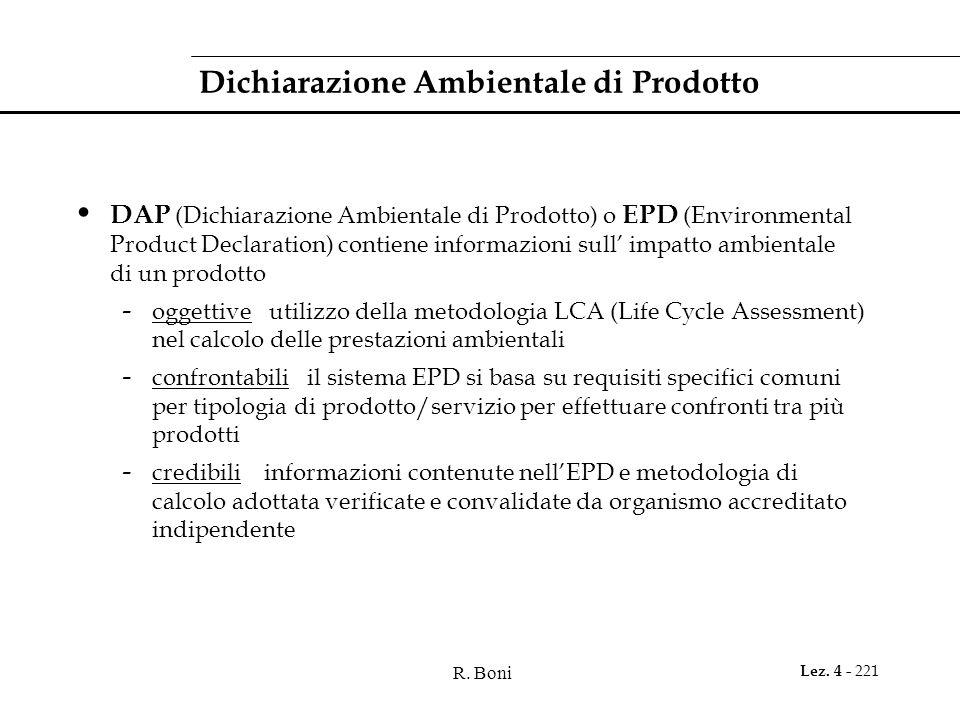 Dichiarazione Ambientale di Prodotto