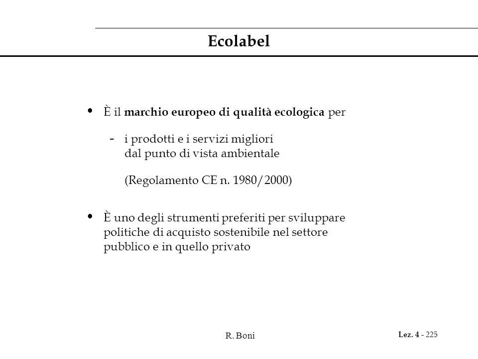 Ecolabel È il marchio europeo di qualità ecologica per