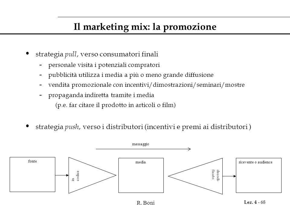 Il marketing mix: la promozione