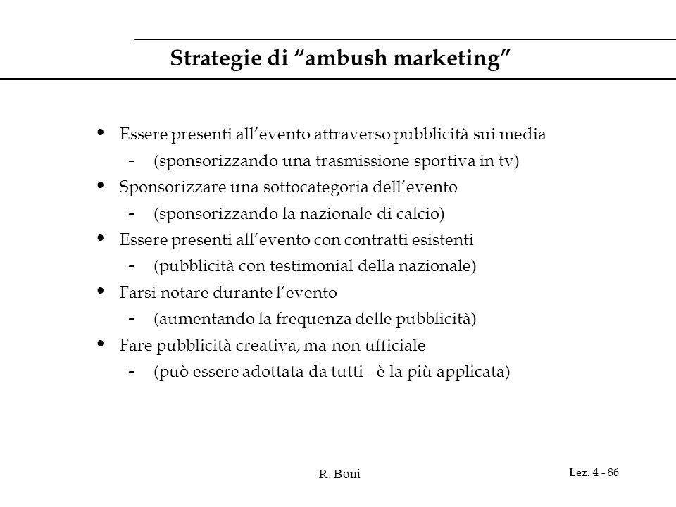 Strategie di ambush marketing