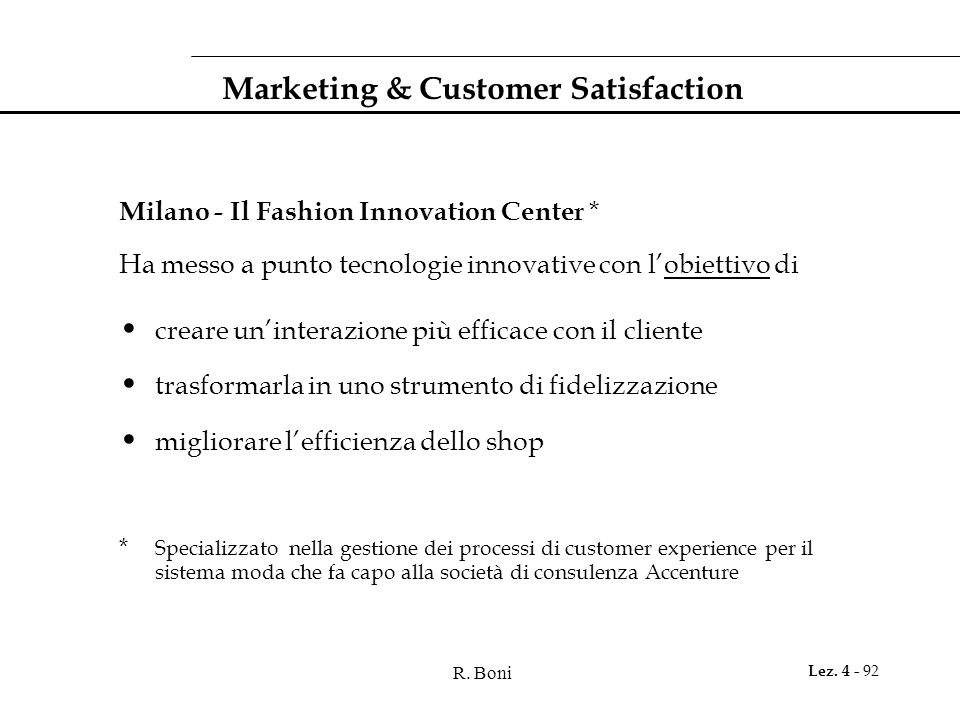 Marketing & Customer Satisfaction