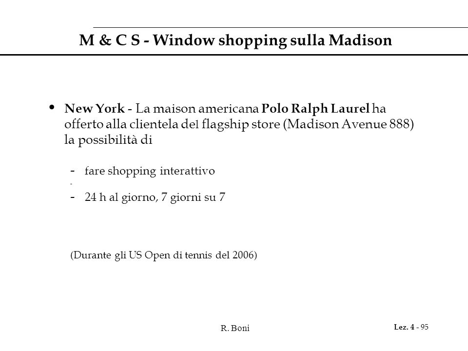 M & C S - Window shopping sulla Madison